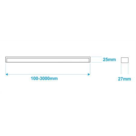 Lampa NULAMP GIP QUADRO P 200cm, 44W, 4700lm, 4000K, Ra80