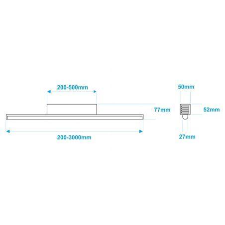 Lampa NULAMP GIP RUNDO P + BOX 100cm, 22W, 2350lm, 4000K, Ra80