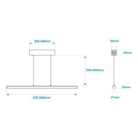 Lampa NULAMP GIP RUNDO W + BOX 100cm, 22W, 2400lm, 5000K, Ra85