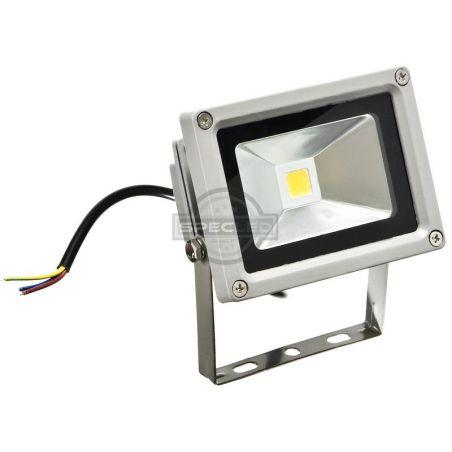 Naświetlacz LED szary, 230V, 10W, barwa ciepła, obudowa metalowa, IP65