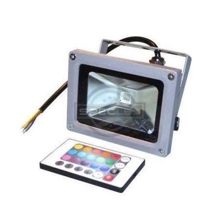 Naświetlacz LED szary, 230V, 10W, RGB, obudowa metalowa, IP65