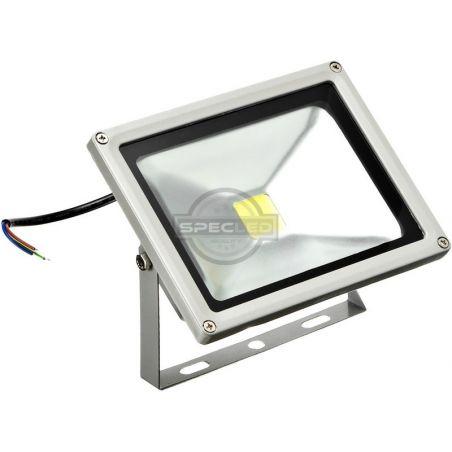 Naświetlacz LED szary, 230V, 30W, barwa ciepła, obudowa metalowa, IP65