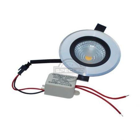 Oprawa Lazuryt COB LED 5W, biała (kremowa), 220-240V AC, 2800-3500K, obudowa aluminiowa, IP20, 400LM