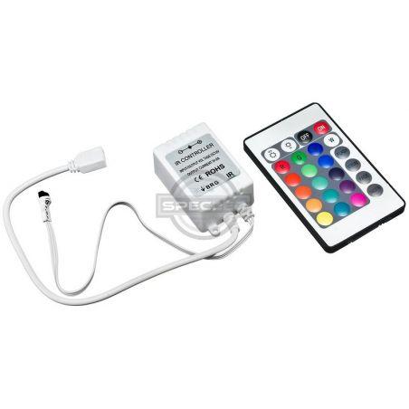 Kontroler RGB IR 24 przyciski, 12V DC, 72W, RGB