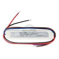 Zasilacz wodoszczelny 12W IP67, 12V DC, plastik