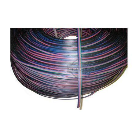 Kabel RGB 4 - żyłowy 0,35mm2 (1mb) do montażu taśmy RGB, 12V DC