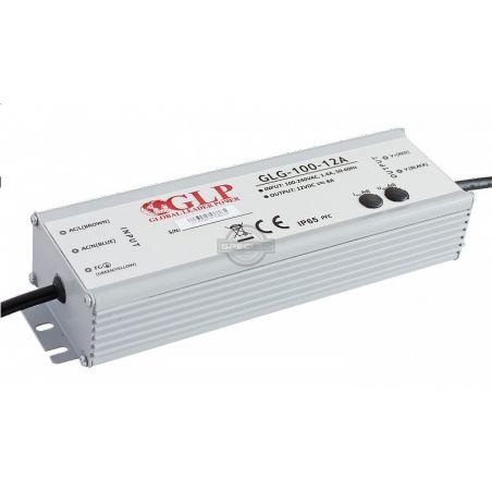 Zasilacz wodoszczelny GLG-100-12, 100W, PFC, SELV, IP65, 12VDC