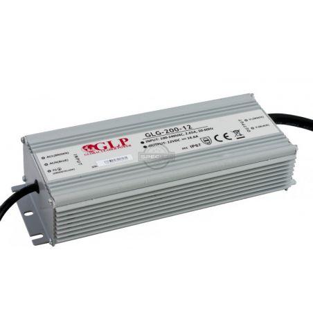 Zasilacz wodoszczelny GLG-200-12, 200W, PFC, IP65, 12VDC