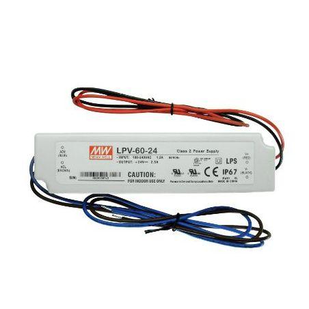 Zasilacz wodoszczelny Mean Well LPV-60-24, 60W, IP67, 24VDC