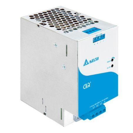 Zasilacz na szynę DELTA DIN CliQ II 240W, 24V DC, metal, gwarancja 5 lat, (3 fazowe zasilanie)