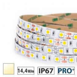 Taśma LED PRO+ 14,4W/m, 840 lm/m, 3000K, 12V DC, IP67,5m