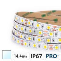 Taśma LED PRO+ 14,4W/m, 930 lm/m, 6000K, 12V DC, IP67,5m