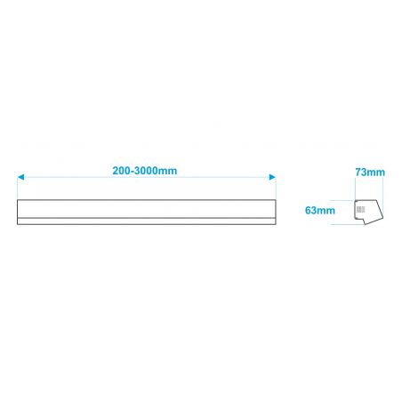Lampa NULAMP IMET K 50cm, 22W, 2100lm, 3000K, Ra80