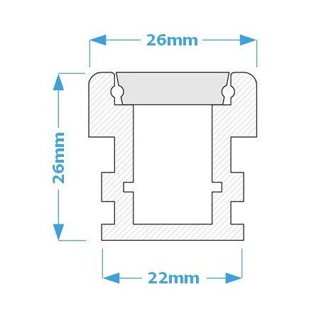 Lampa NULAMP WATER LINE 26 IP67 100cm, 13W, 1420lm, 5000K, Ra85