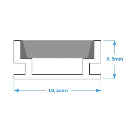 Lampa NULAMP WATER ALU IP67 200cm, 28,8W, 2480lm, 3000K, Ra80