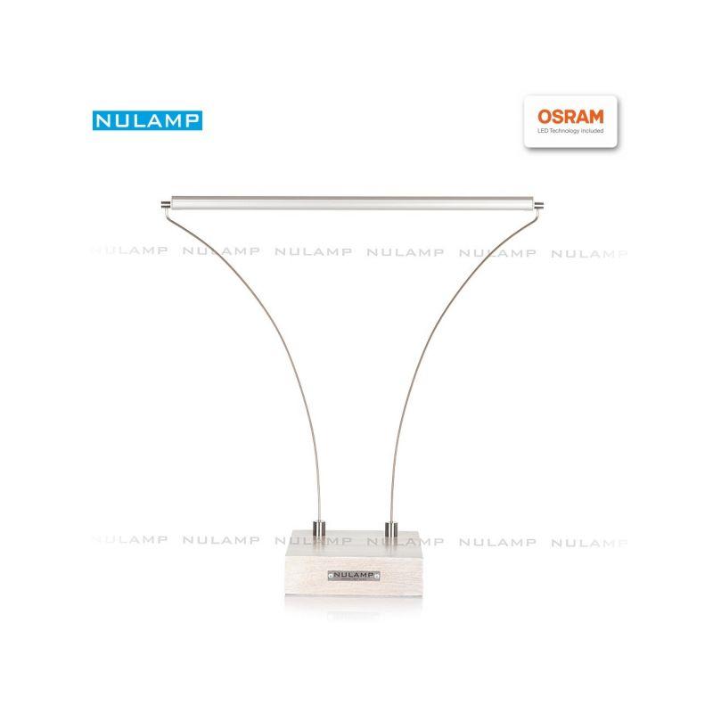 Lampa biurkowa LED NULAMP B DĄB BIELONY 8,3W, 900lm, 5000K, Ra80