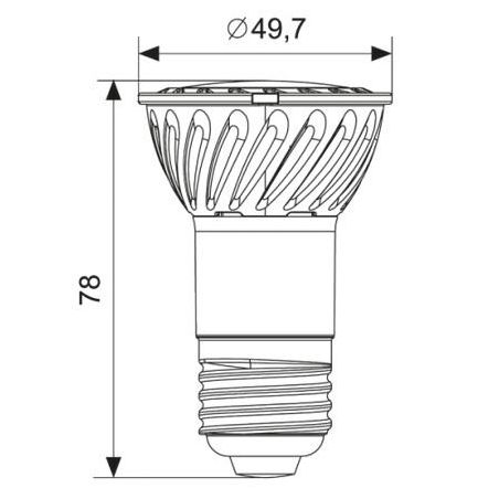 Żarówka LEDE27 JDR 4W COB 100-250V biała ciepła