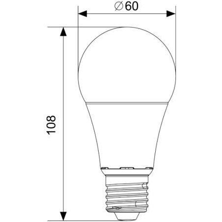 Żarówka LED A60 E27 8,5W Biała ciepła