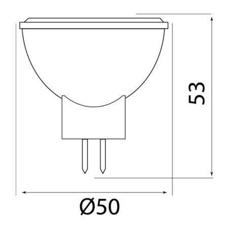 Żarówka LED MR16 5W COB 100-250V biała ciepła
