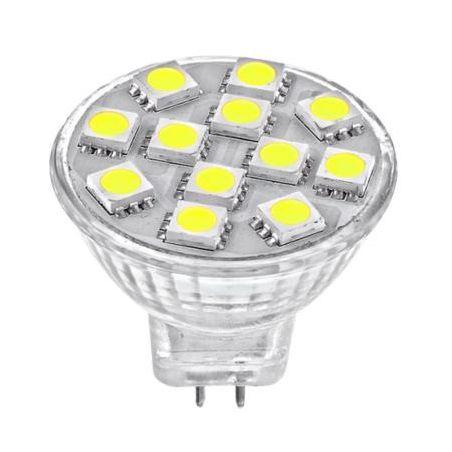 Żarówka LED MR11 12 LED 230V barwa zimna