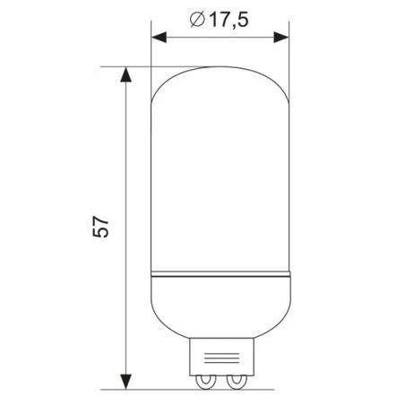 Żarówka LED G9 6SMD 2,5W 230V biała ciepła