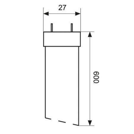 T8 Świetlówka LED GLASS-2 9W 60 cm 100-240V barwa ciepła