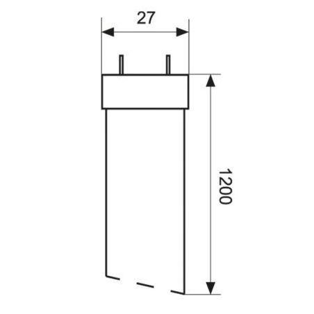 T8 Świetlówka LED GLASS-2 18W 120 cm 100-240V barwa ciepła
