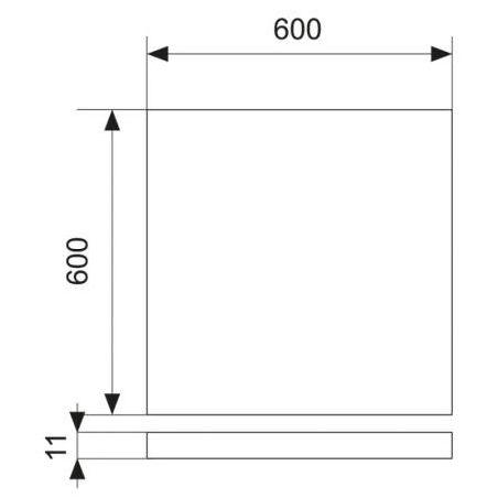 PANEL LED 45W SMD 2835 60X60X11CM AC85-265V 6000K