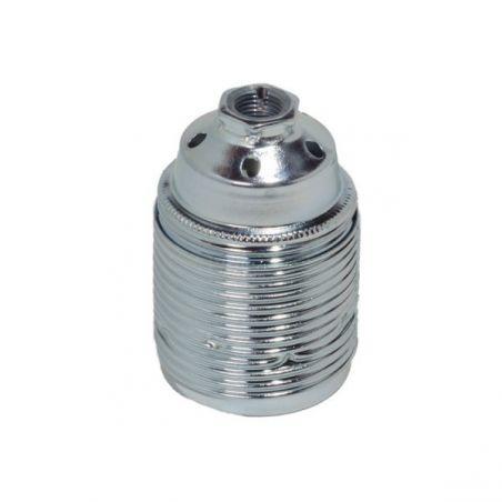 Oprawka metalowa E27 - srebrna