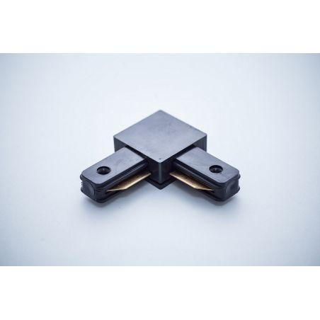 Łącznik do szyn 1-fazowych 90° czarny - LED