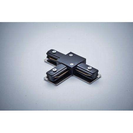 Łącznik do szyn 1-fazowych typ T kolor czarny - LED