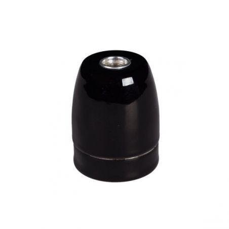 Oprawka ceramiczna błyszcząca czarna - E27