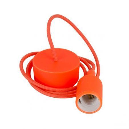 Oprawka silikonowa pomarańczowa z kablem - komplet