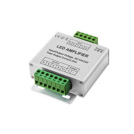 Wzmacniacz sygnału RGB+W 12V~24V 24A (4*6A)