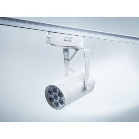 Reflektor Szynowy LED 7x1PowerLED 230V 9W biała obudowa