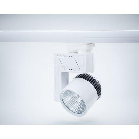 Reflektor szynowy 3- fazowy LED COB 50W obudowa biało-czarna 230V