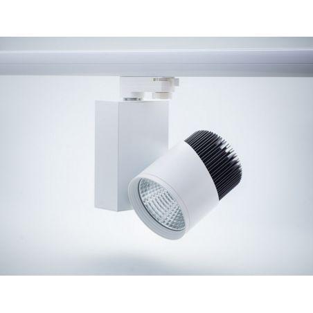Reflektor szynowy 3- fazowy LED COB 20W obudowa biało-czarna 230V