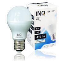 LED / E27 / 7W / odp.53W / BIAŁY CIEPŁY / ŻARÓWKA LED INQ