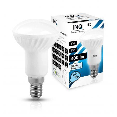 LED / E14 / 5W / odp.45W / R50 / BIAŁA ZIMNA / ŻARÓWKA LED INQ