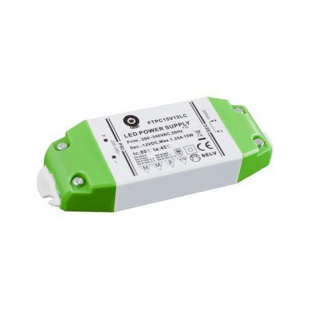 Zasilacz meblowy FTPC15V12LC, 15W, IP20, 12VDC/1,25A