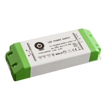 Zasilacz meblowy FTPC100V24, 100W, IP20, 24VDC/4.16A