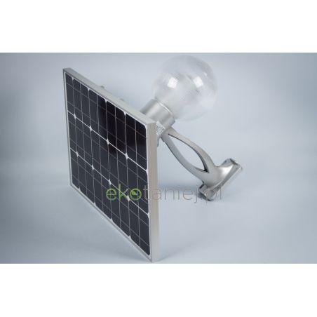 Zestaw solarny 12W - lampa LED, panel, bateria i pilot