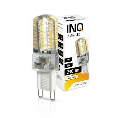 LED / G9 / 3W / odp.25W / BIAŁY CIEPŁY / ŻARÓWKA LED INQ