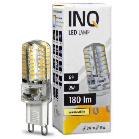 LED / G9 / 2W / odp.18W / BIAŁY CIEPŁY 180Lm / ŻARÓWKA LED INQ