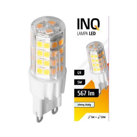 LED / G9 / 5W / odp.50W / BIAŁY ZIMNA / ŻARÓWKA LED INQ