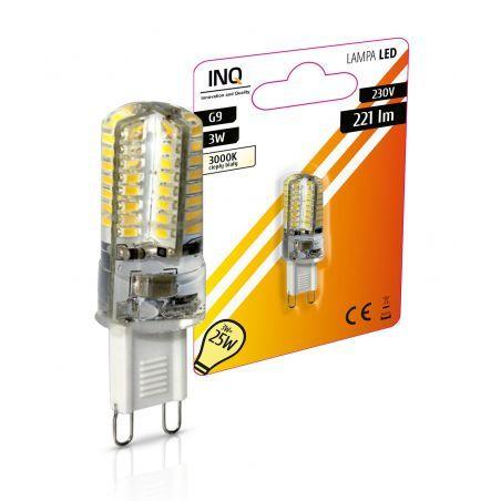 LED / G9 / 3W / odp.25W / BIAŁY CIEPŁA / ŻARÓWKA LED INQ