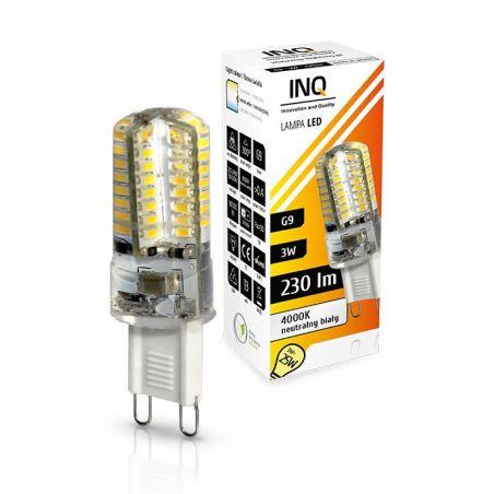 LED / G9 / 3W / odp.25W / BIAŁY NEUTRALNA / ŻARÓWKA LED INQ