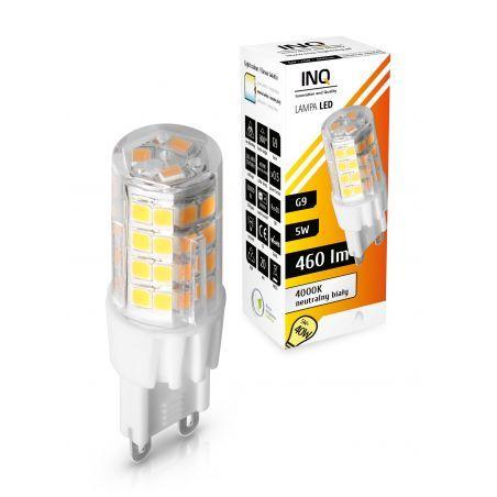 LED / G9 / 5W / odp.40W / BIAŁY NEUTRALNA / ŻARÓWKA LED INQ
