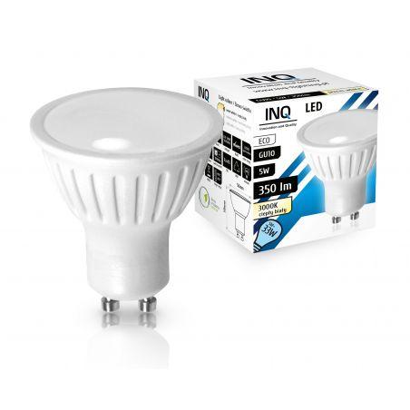 LED / GU10 / MR16 / 5W / odp.33W / BIAŁA CIEPŁA / ŻARÓWKA LED INQ