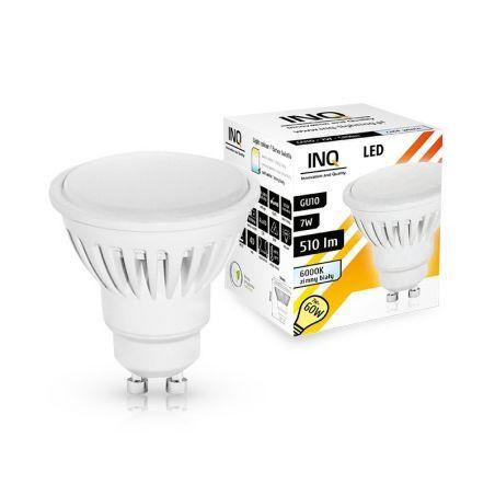 LED / GU10 / MR16 / 7W / odp.60W / BIAŁA ZIMNA / ŻARÓWKA LED INQ